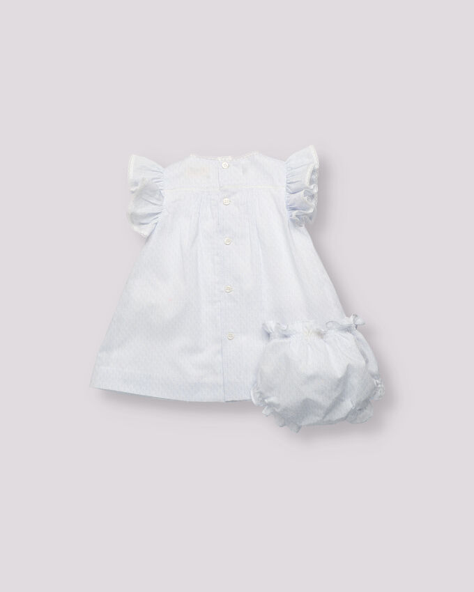 Blue print baby girl outfit