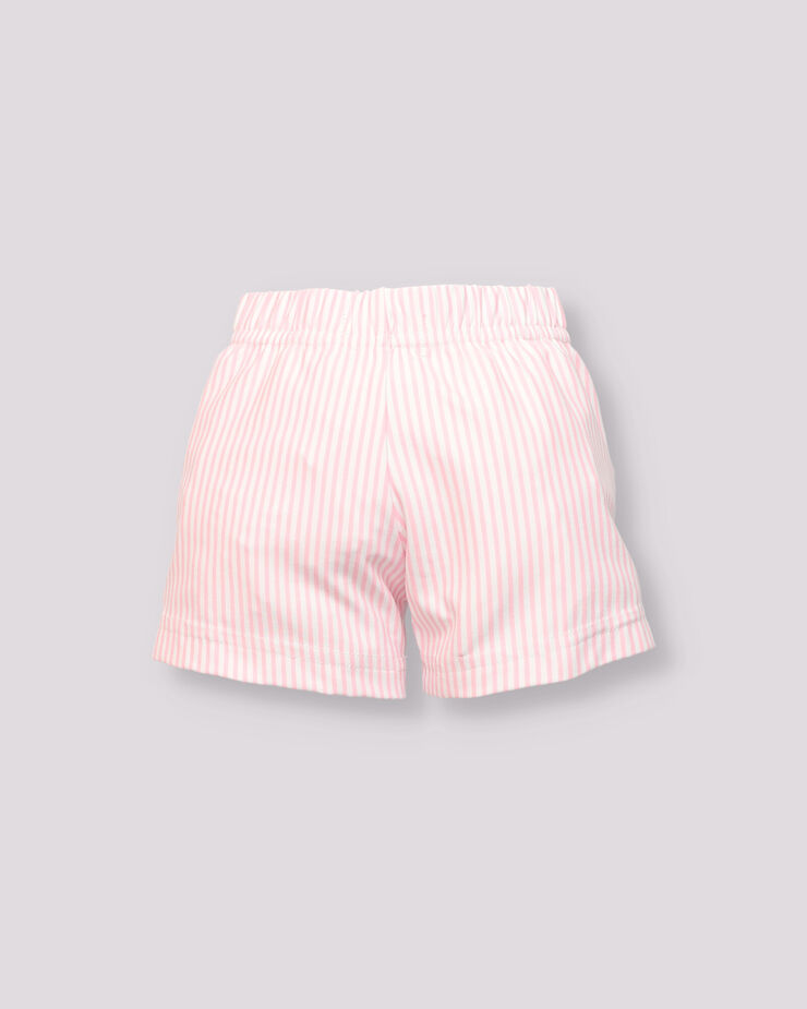 Pink and white striped baby boy swimsuit
