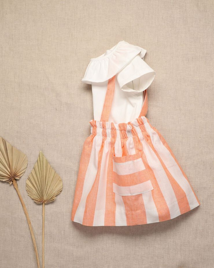 Linen skirt with straps