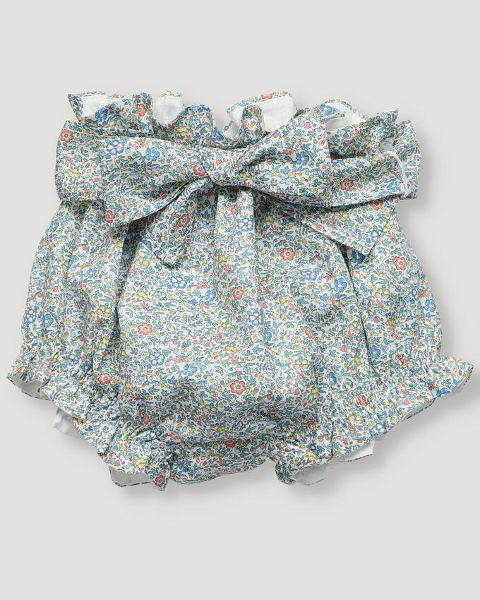 Baby girl bloomer in Liberty flowered fabric
