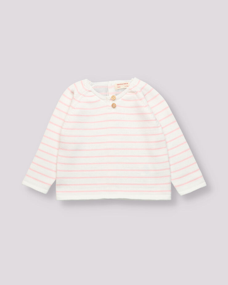 Pink striped jersey for baby girl