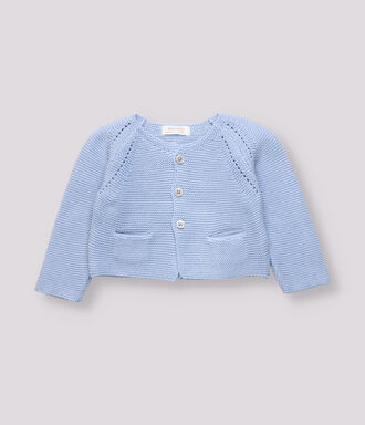 Blue bobo knitted jacket