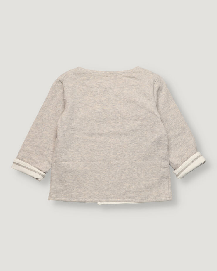 Grey baby fleece cardigan