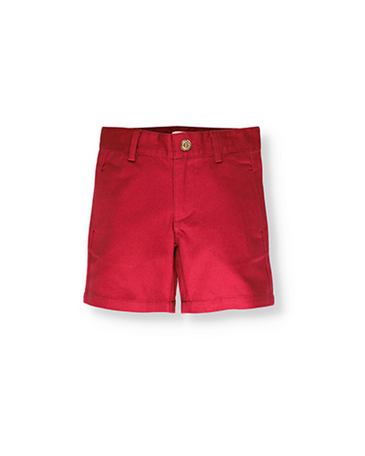 Cherry chino Bermuda shorts