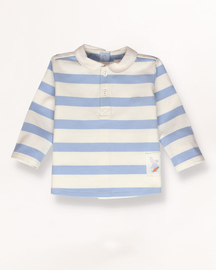 Baby polo shirt with contrast details