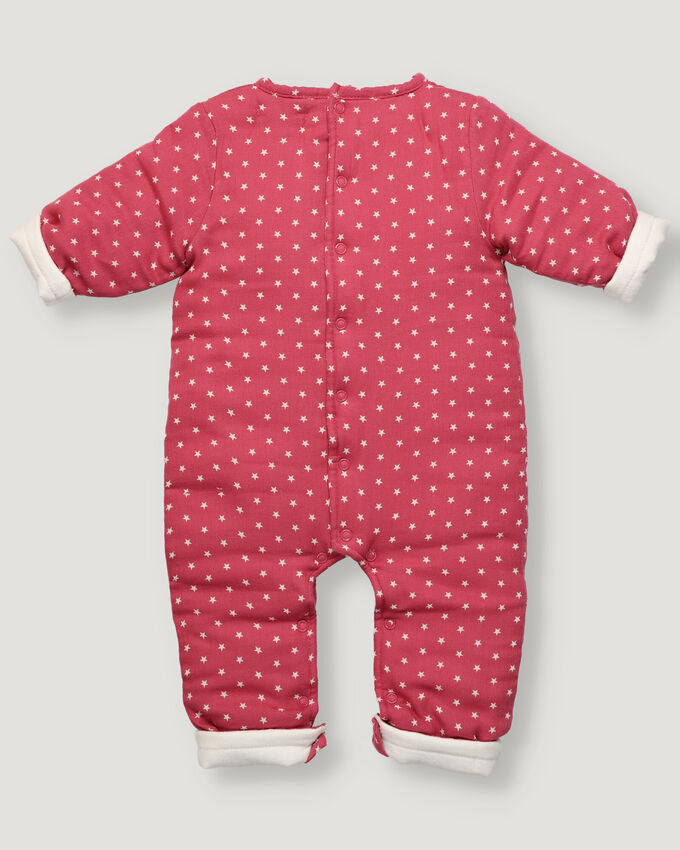 Baby padded overall with star pattern