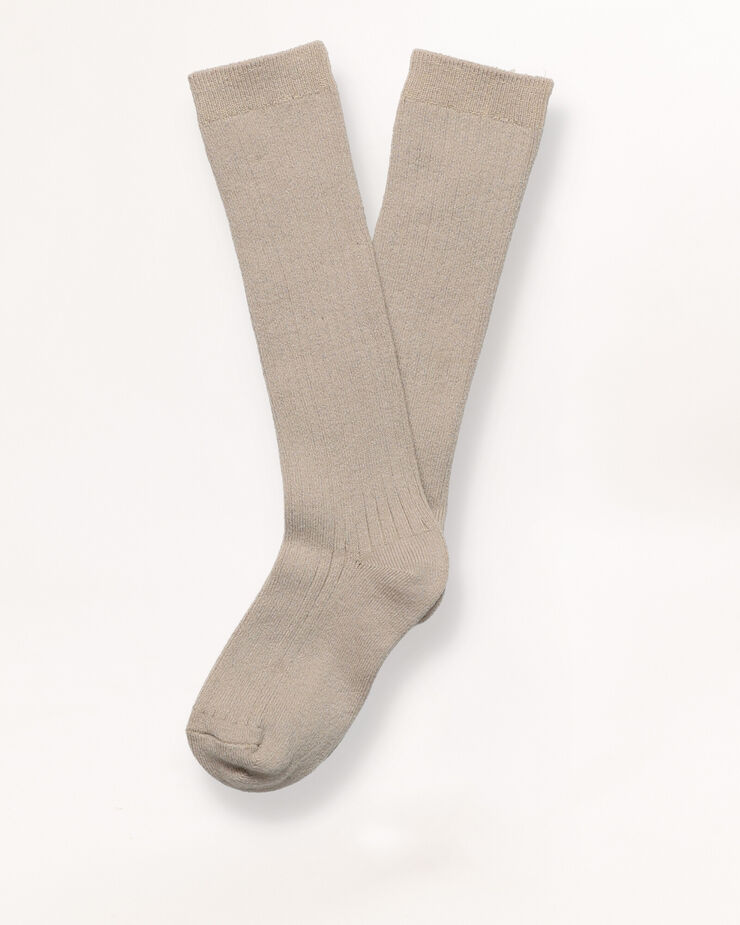 Long beige socks