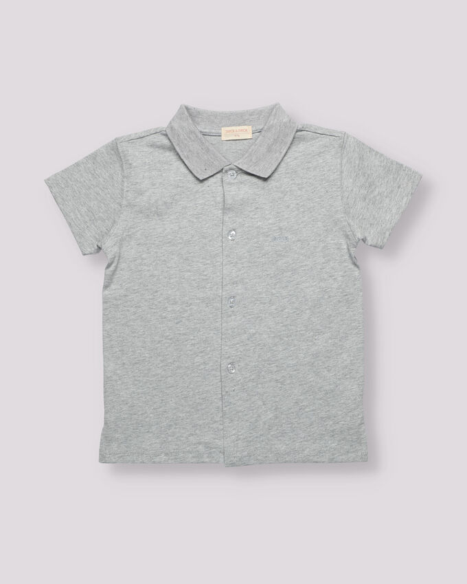 grey cotton boy polo