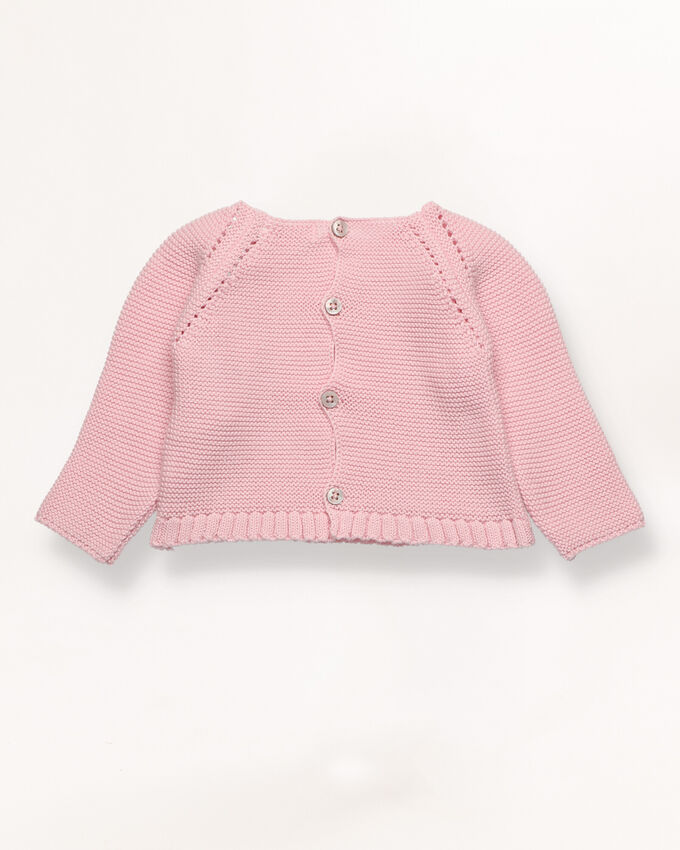 Pink jumper with bobbles