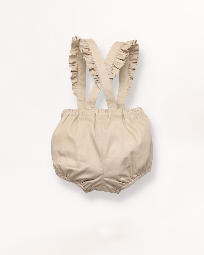 Diaper cover with braces detail
