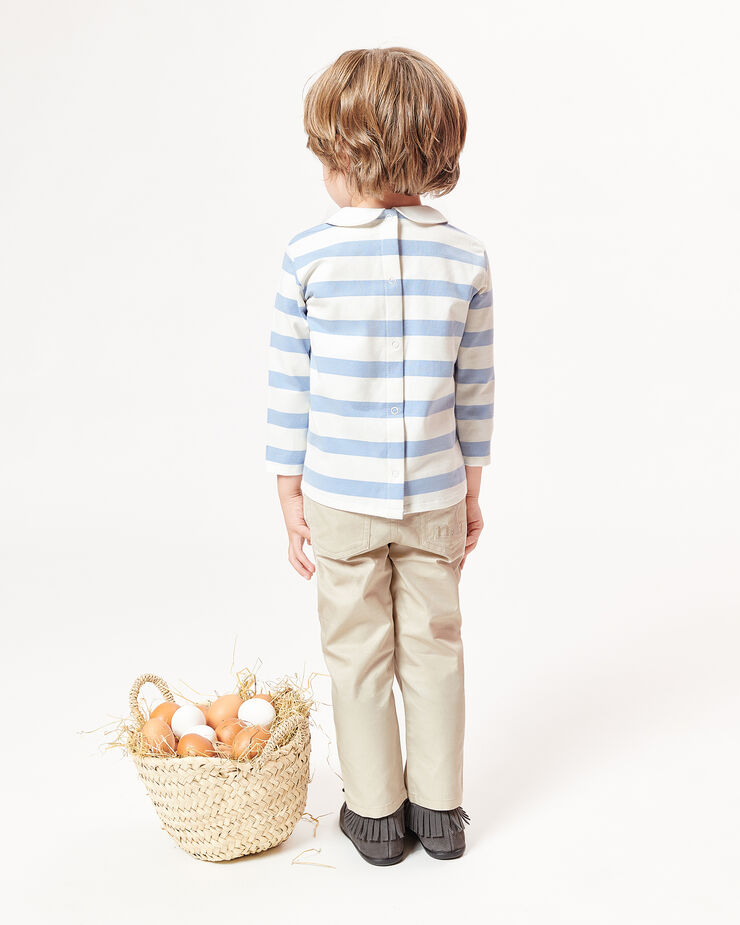 Elasticated beige baby trousers