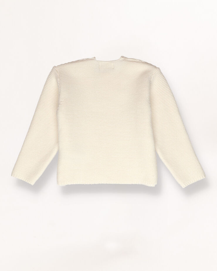 White ripped baby jumper