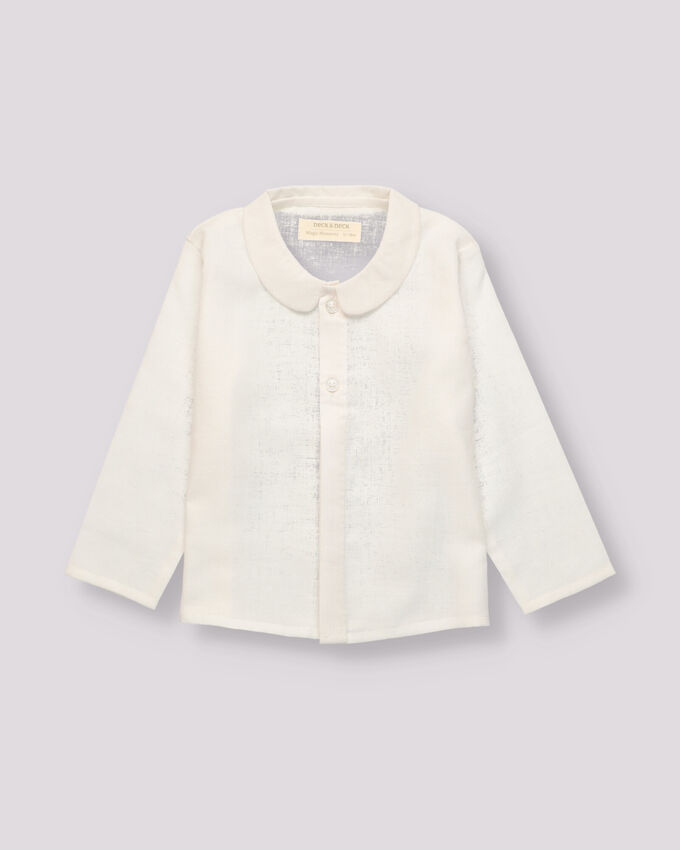 linen white boy shirt