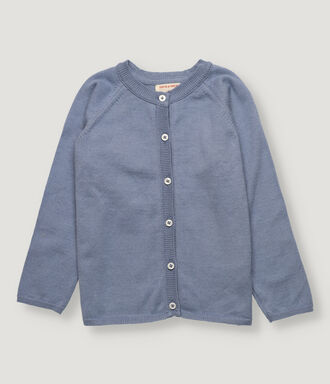 Blue girl knitted cardigan