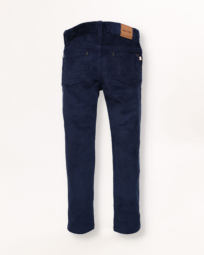 Navy blue trousers with 5 pockets