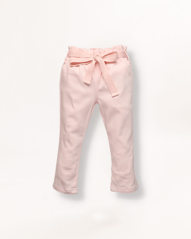 Pink baby trousers