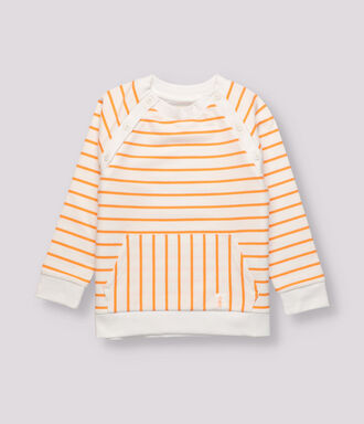 Orange striped sweatshirt