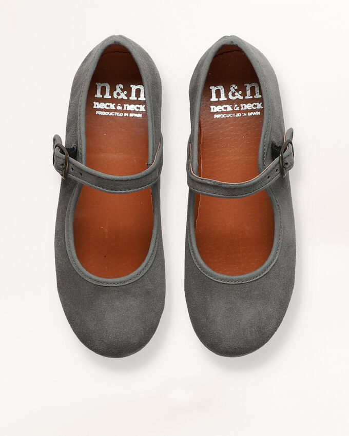 Grey Mary Jane shoes