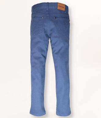Cobalt blue trousers with 5 pockets
