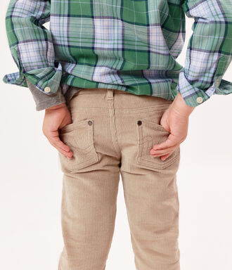 Beige trousers with 5 pockets