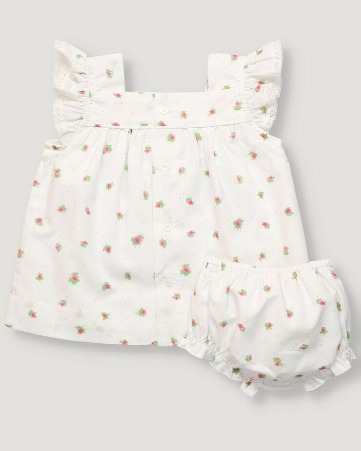 Baby set with flower print