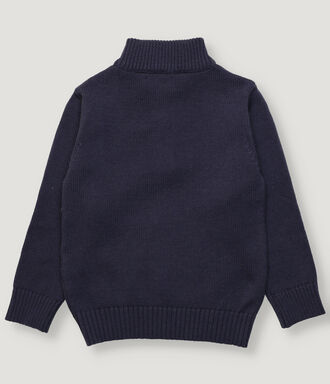 Navy boy pullover with zipper