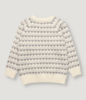 Off white and light grey boy pullover