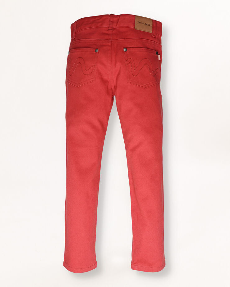 Dark red trousers with 5 pockets