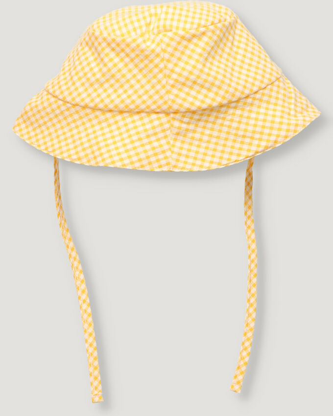 Yellow vichy girl hat.