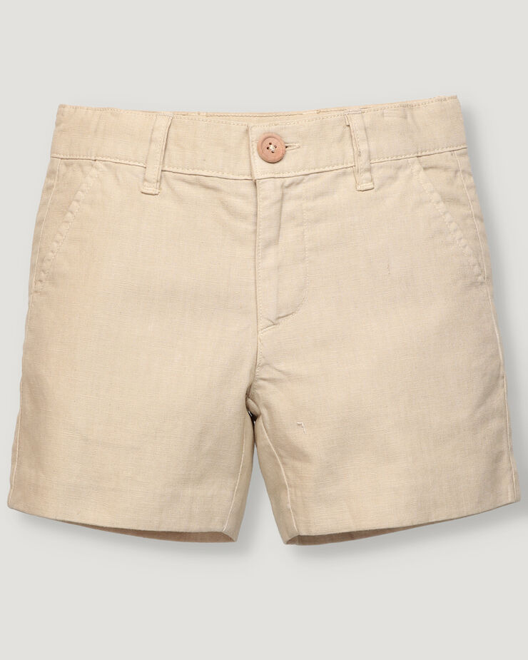 Sand basic boy shorts with front button and zipper.