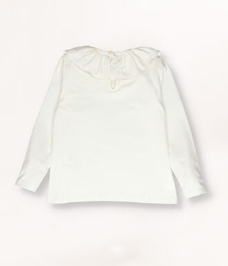 Ivory t-shirt with frills