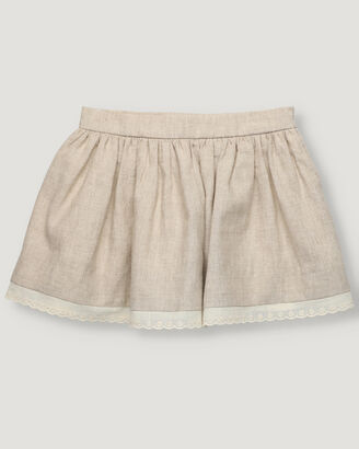 Girl skirt in sand colour.