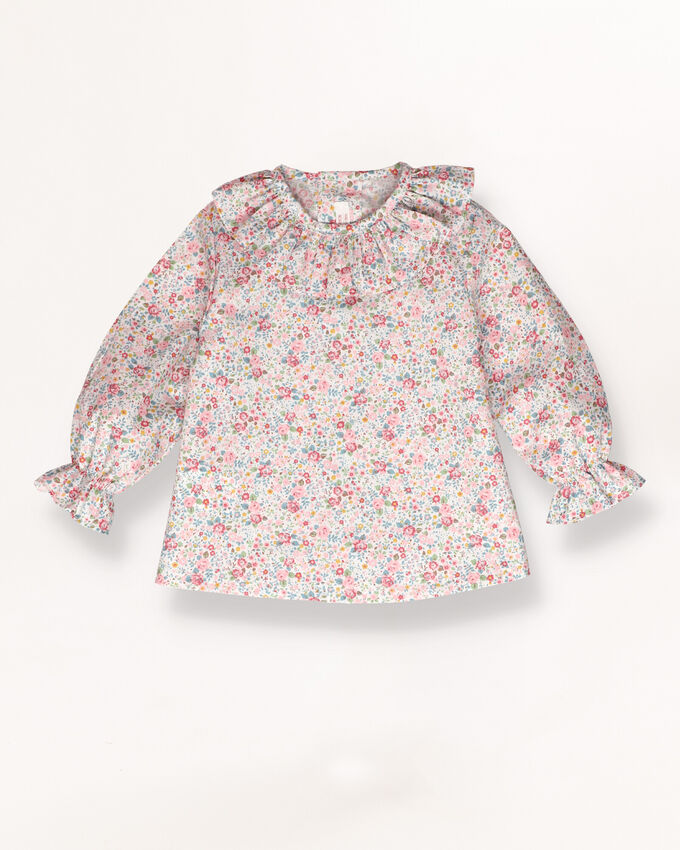 Shirt with lace edging