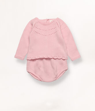 Pink knit set with detail