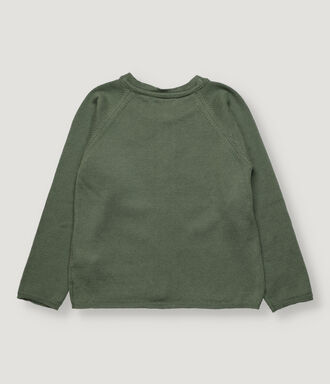 Green girl knitted cardigan