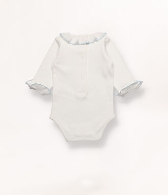 Baby grow with blue detail