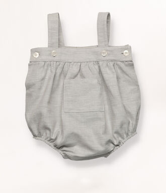 Baby dungarees with pockets