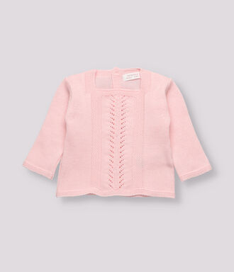 Pink knitted jersey