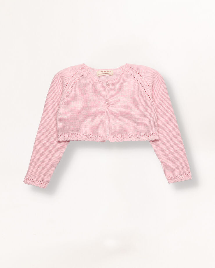 Torera tricot rosa junior