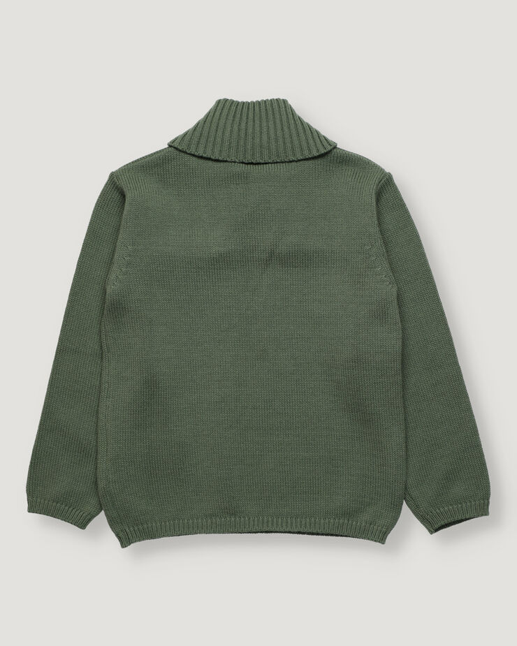 Green boy pullover with collar