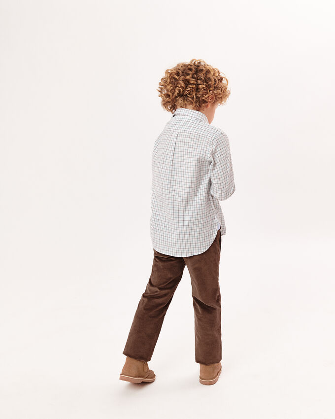 Brown trousers with elasticated waist