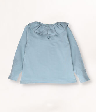 Dusty blue t-shirt with frills