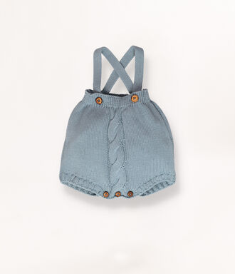 Knitted baby dungarees