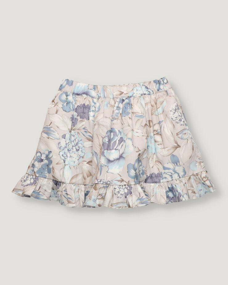 Big flower skirt with frill on bottom