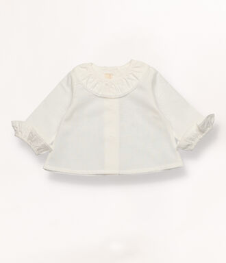 White shirt with frill