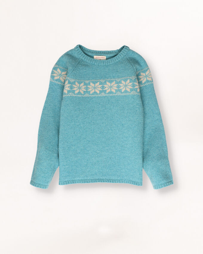 Green jumper with border