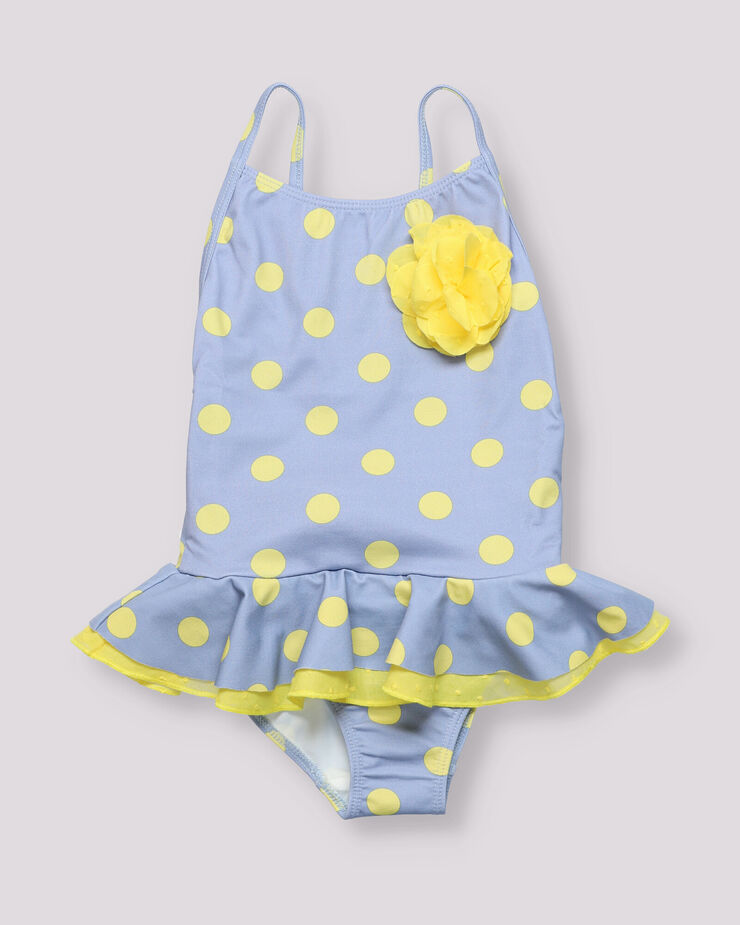 Pink and blue flower print boy swimsuit.