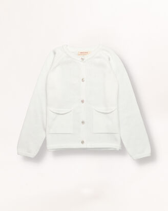 White knitted jacket