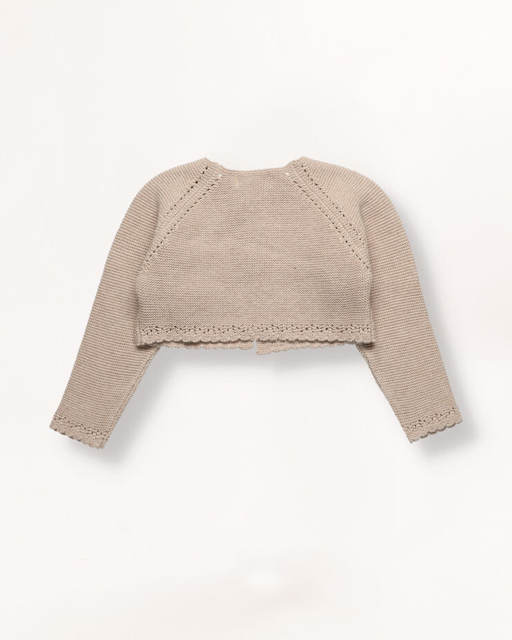 Beige cropped cardigan