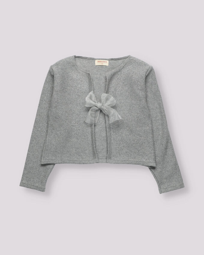 Organic cotton jacket with a bow